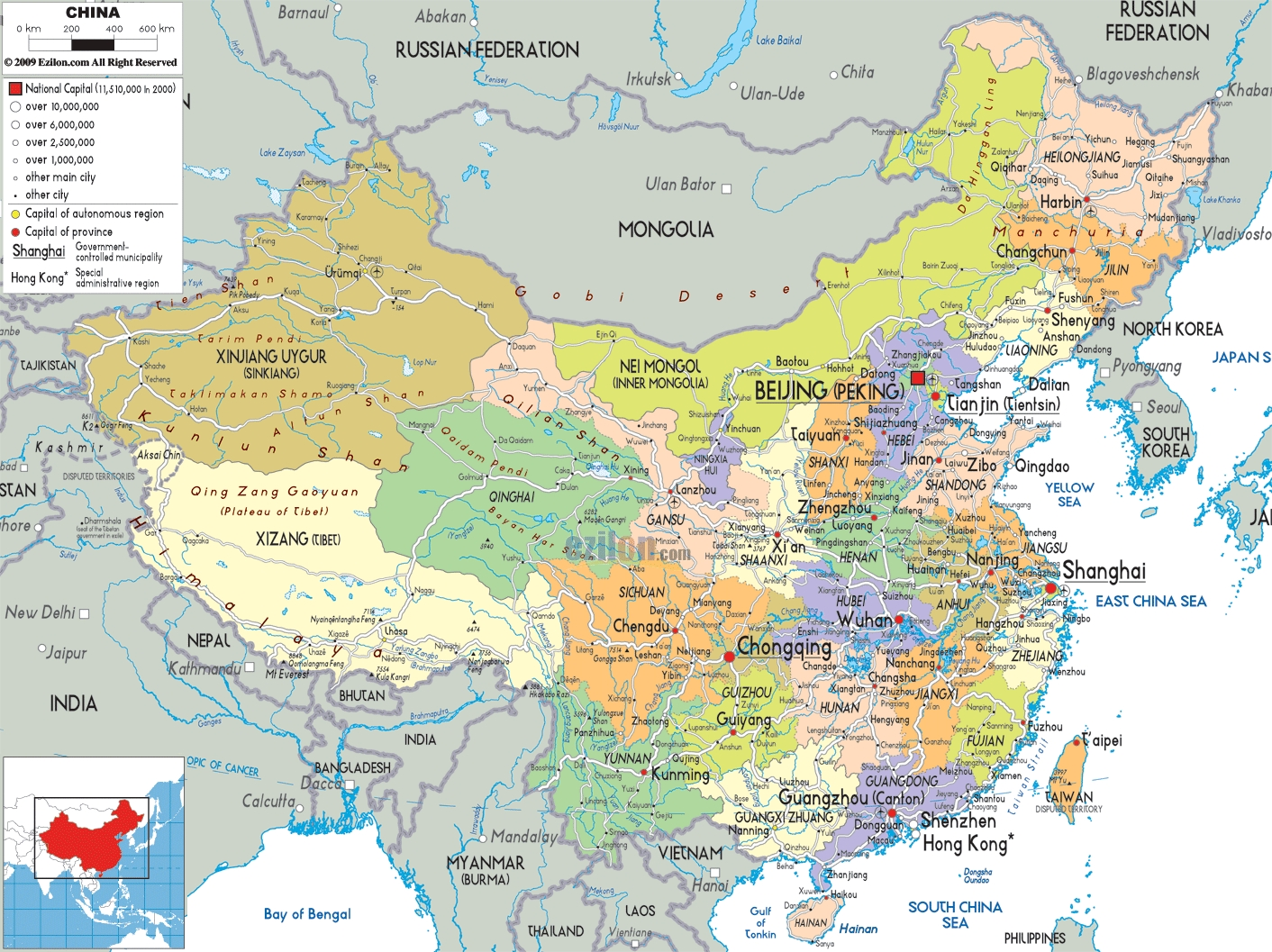 Harta Chinei Chinaro